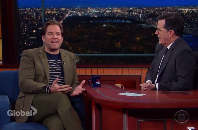 Watch: Michael Weatherly Talks 'Bull' vs. DiNozzo with Stephen Colbert on The Late Show