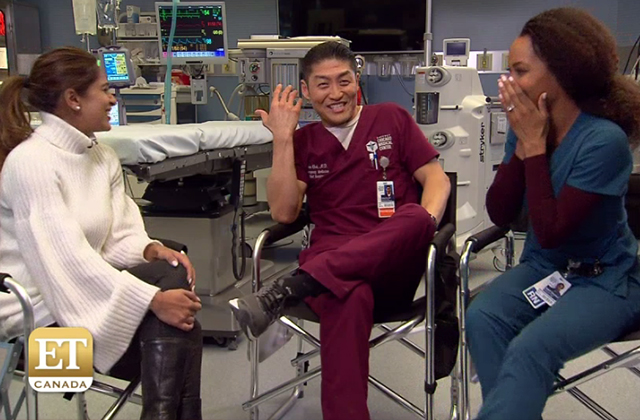 Get a Glimpse Behind the Scenes of 'Chicago Med' From Brian Tee (Dr. Choi) & Yaya DaCosta (April)!
