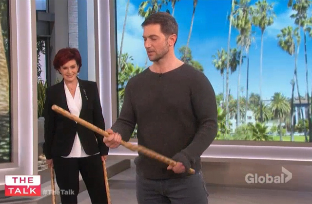 Watch: 'Ransom's' Luke Roberts teaches the hosts how to wield a sword