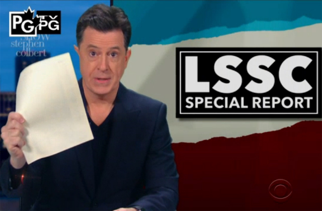 Watch: Colbert mocks Rachel Maddow's not-so-big Trump tax return reveal