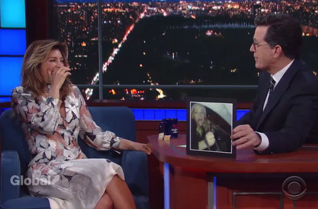 Watch: NCIS Star Jennifer Esposito Tells Stephen Colbert About the Hilarious Prank she Played on Emily Wickersham