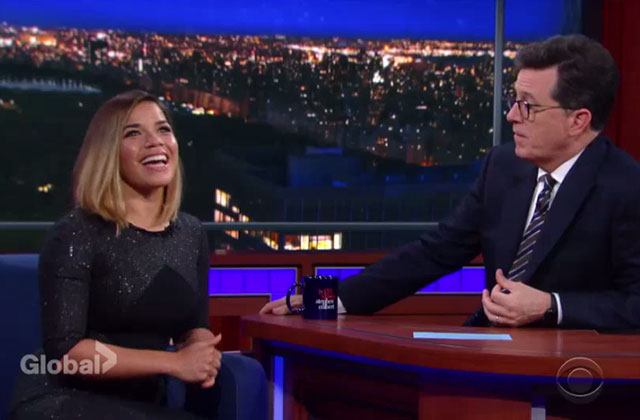 Watch: America Ferrera Dishes on Directing 'Superstore' on The Late Show With Stephen Colbert