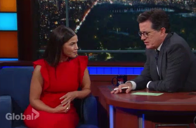 Watch: America Ferrera Talks 'Superstore' On The Late Show With Stephen Colbert