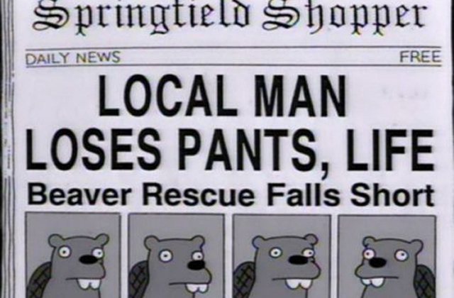 The best Simpsons headlines