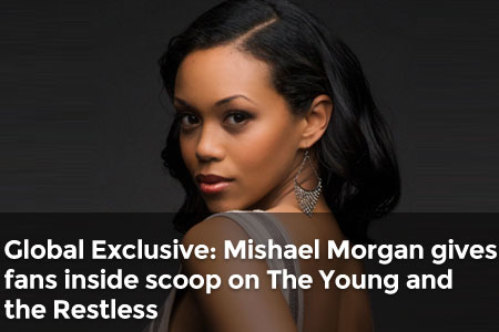 Global Exclusive: Mishael Morgan gives fans inside scoop on The Young and the Restless