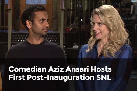 Comedian Aziz Ansari Hosts First Post-Inauguration SNL