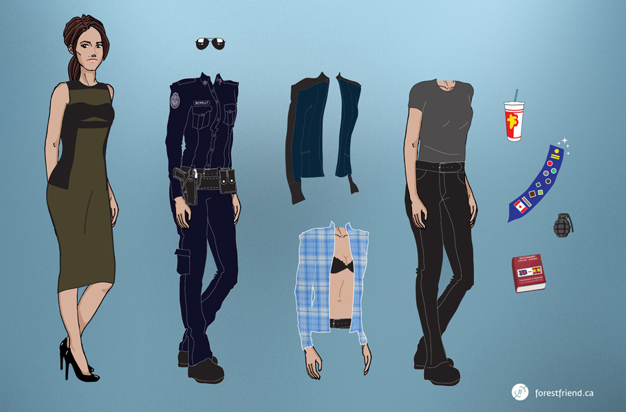 Get your Rookie Blue paper dolls