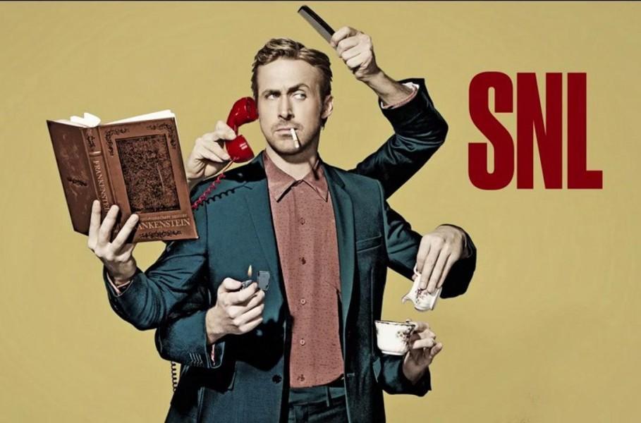 Watch Ryan Gosling break character all over SNL!