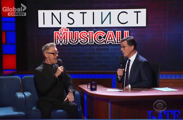 'Instinct' Star Alan Cumming Does A Musical Number For Colbert