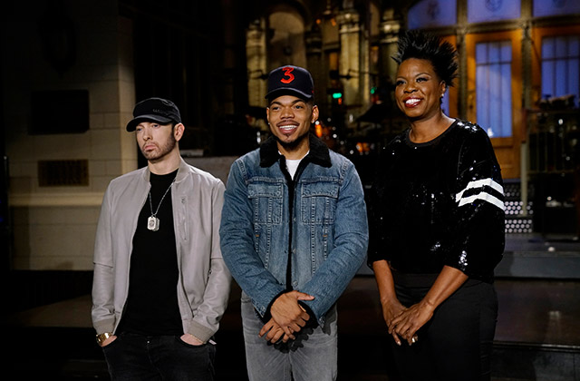 WATCH: Eminem, Leslie Jones Try to Convince Chance the Rapper to Change His Name in Latest SNL Promo
