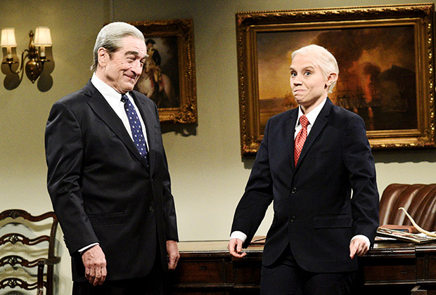 SNL: Kate McKinnon Says Goodbye To Jeff Sessions Impression With Help From Robert De Niro