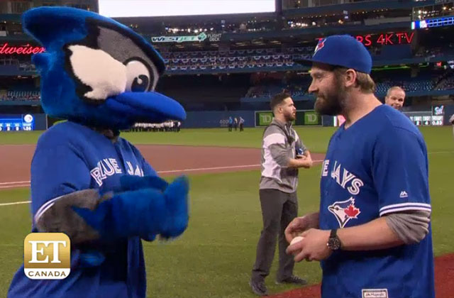 EXCLUSIVE: Clive Standen Dishes on Throwing the First Pitch at the Blue Jays Game!