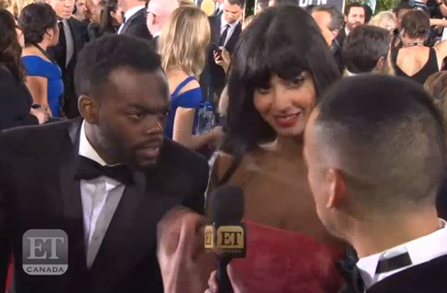 Jameela Jamil & William Jackson Harper At 'The Golden Globes':