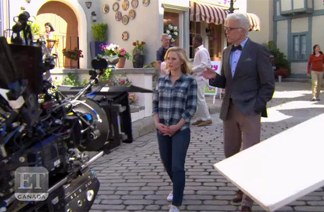 WATCH: Get a Glimpse Behind the Scenes of 'The Good Place' From Kristen Bell & Ted Danson