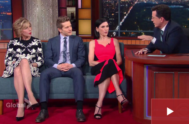 Watch Colbert talks with 'The Good Wife' cast about the big finale