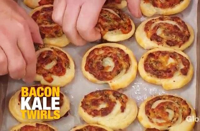 Must-Try Snack: Bacon Kale Twirls!