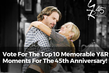 Vote For The Top 10 Memorable Y&R Moments For The 45th Anniversary!