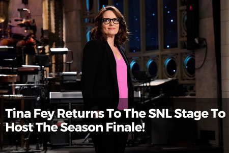 Tina Fey Returns To The SNL Stage To Host The Season Finale