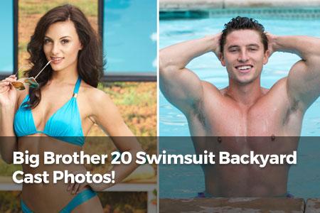 Big Brother 20 Swimsuit Backyard Cast Photos