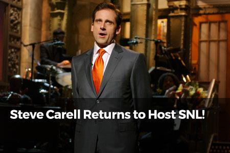 Steve Carell Returns To Host SNL!