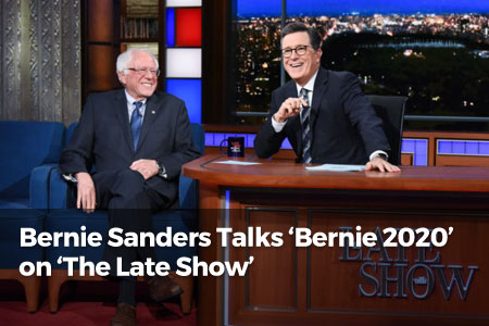 Bernie Sanders Talks 'Bernie 2020' on 'The Late Show'