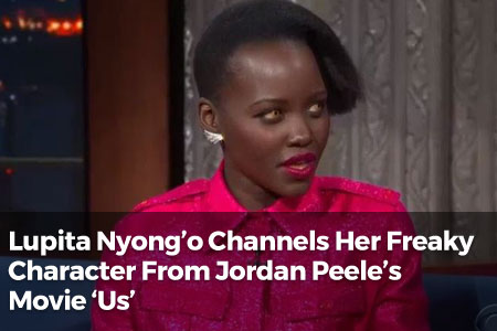 Lupita Nyong'o Channels Her Freaky Character From Jordan Peele's Movie 'Us'