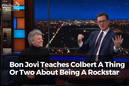 Bon Jovi Teaches Colbert A Thing Or Two About Being A Rockstar