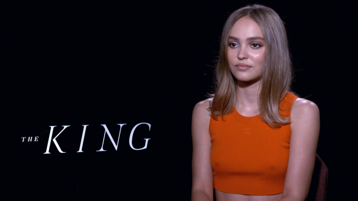 Lily-Rose Depp On Working With Timothee Chalamet In 'The King'