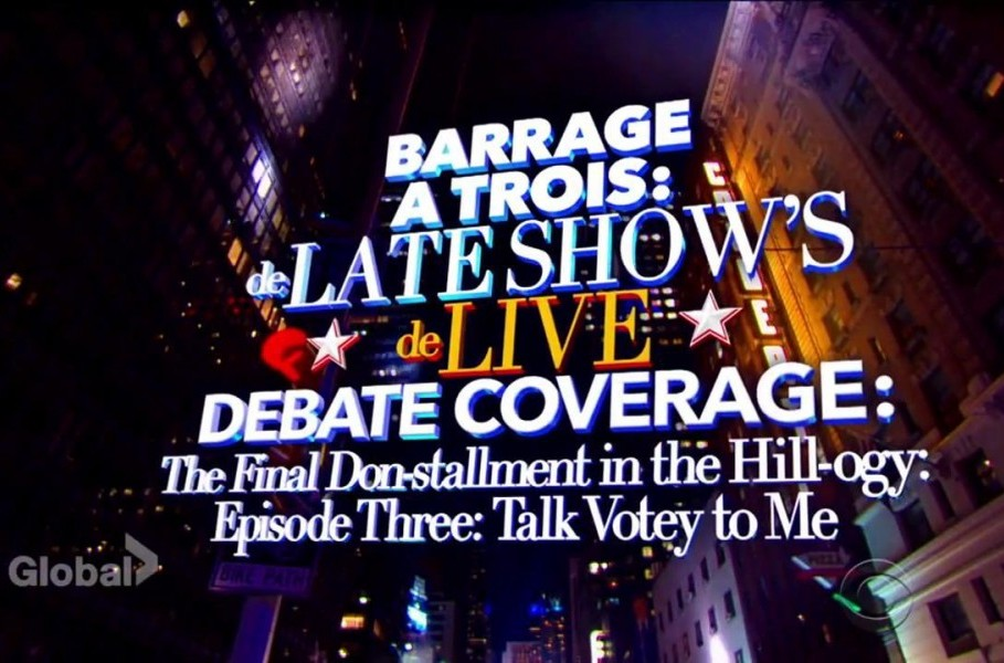 Barrage a Trois: The Late Show's Live Debate Coverage