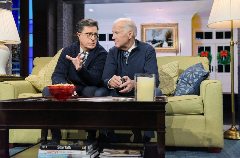 The Late Show welcomes back Joe Biden